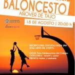 Cartel. Torneo 3x3 Baloncesto 2016