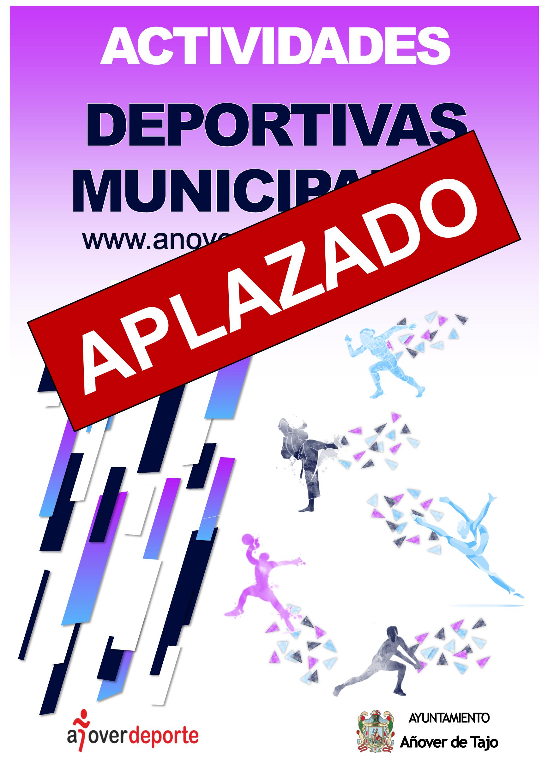 Aplazamiento Actividades Deportivas Municipales