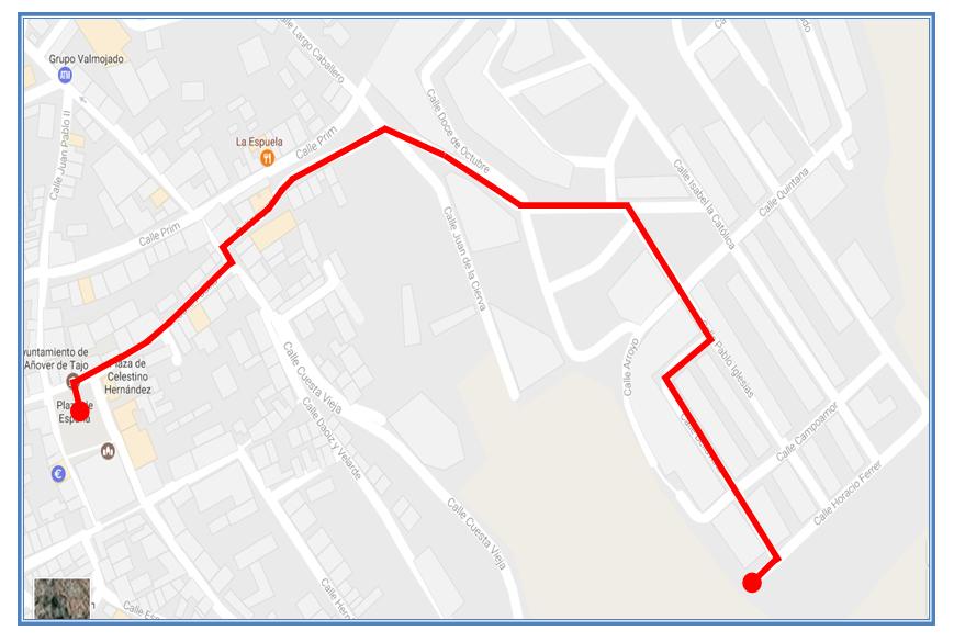 mapa procesión