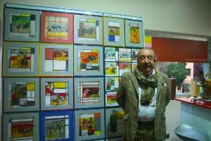 Luis Romera, autor de la exposición Mondrián y los toros