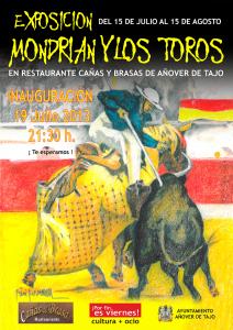 Cartel Exposición Mondrian y los toros