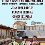 Cartel Toros Dia 27 Agosto - San Bartolomé 2013