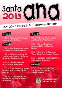 Fiestas Santa Ana 2013