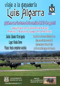 Cartel Viaje Ganadería Luis Algarra