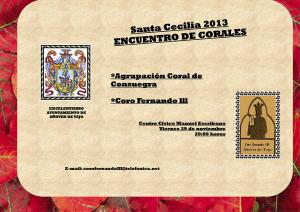 Encuentro de Corales Santa Cecilia 2013