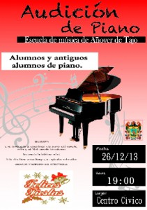 Audición de Piano de la Escuela Municipal de Música - Navidad 2013