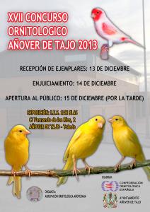 XVII Concurso Ornitológico en Añover de Tajo