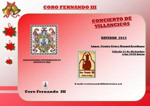 Concierto de Villancicos 2013 a cargo del Coro Fernando III.