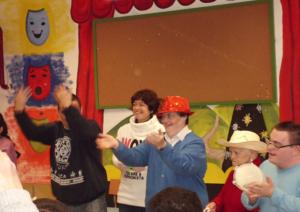 Representación del teatro 'Ana la de las musarañas' por los chic@s del Centro Ocupacional de Ocaña