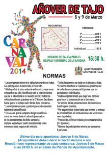 8 y 9 de marzo, Carnavales 2014 en Añover de Tajo