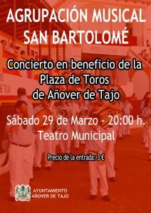 Agrupación Musical San Bartolomé en concierto benéfico para la Plaza de Toros