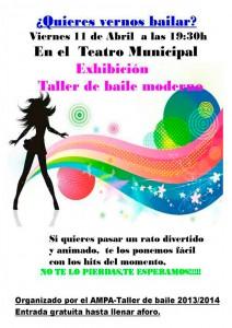 Exhibición: Taller de Baile Moderno en Añover de Tajo