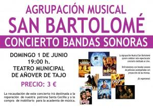 Concierto de Bandas Sonoras a cargo de la Asociación Musical San Bartolomé
