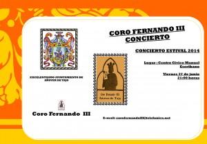 Concierto Estival del Coro Fernando III de Añover de Tajo.