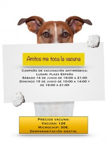 Campaña de Vacunación Antirrábica en Añover de Tajo