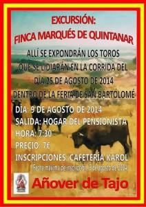 Viaje a la ganadería de Marqués de Quintanar