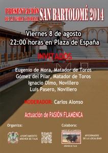 Presentación Feria Taurina San Bartolomé 2014