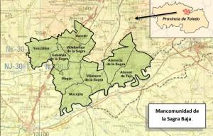 Mapa Mancomunidad de la Sagra Baja