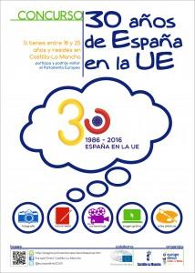 cartel concurso 30 Años en la Unión Europea