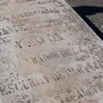 lápida de Manuel Escribano