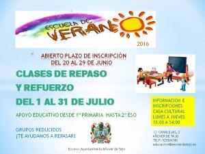 CARTEL ESCUELA DE VERANO 2016