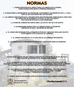 Cartel Carrozas 2016
