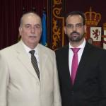 El pregonero con el Alcalde