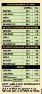 precios toros