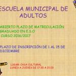 ESCUELA MUNICIPAL DE  ADULTOS