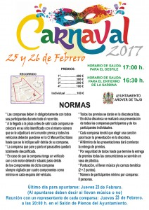 25 y 26 de febrero, Carnavales en Añover de Tajo.